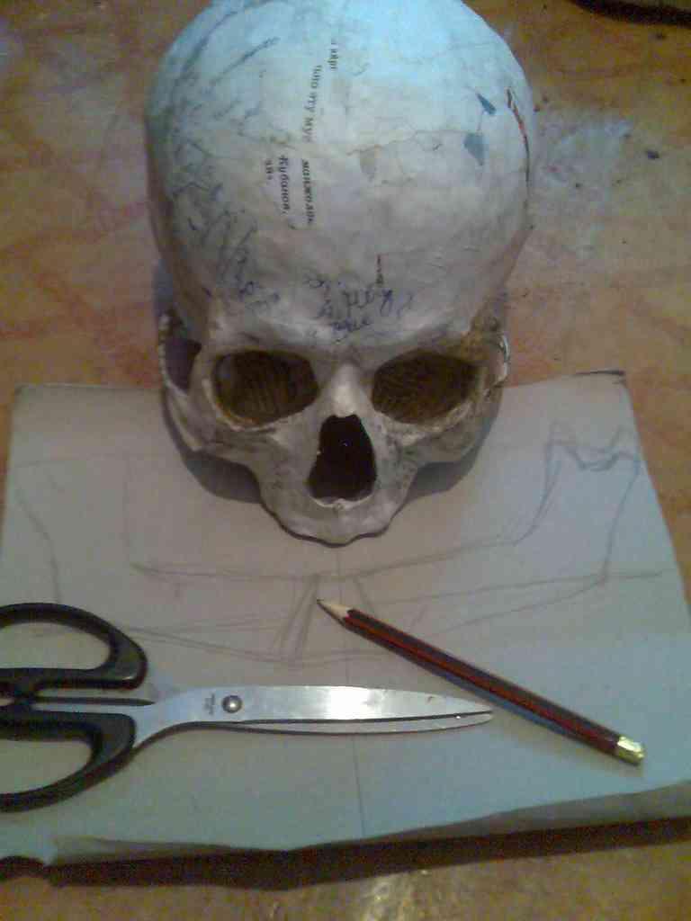 Как вырезать череп своими руками фото 726
