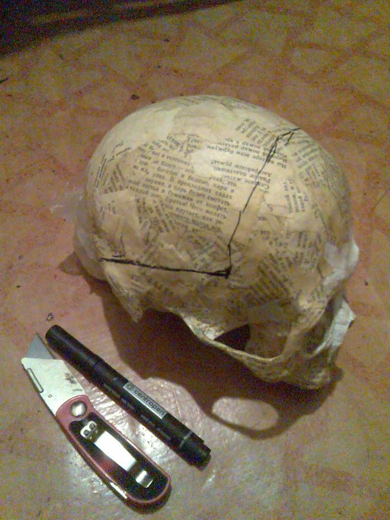 Как своими руками сделать череп из